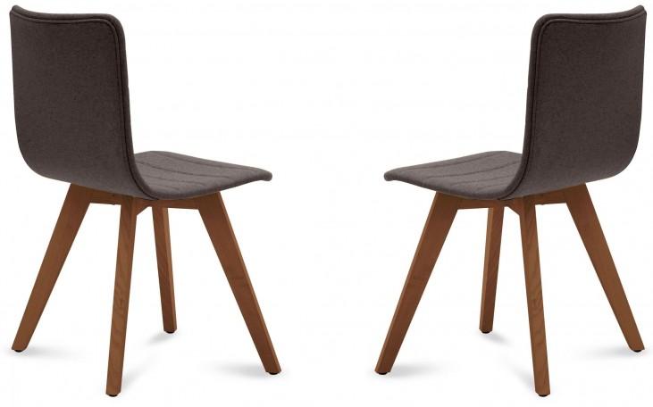 Flexa Flirt Brown Walnut Frame Ashwood Chair Set of 2