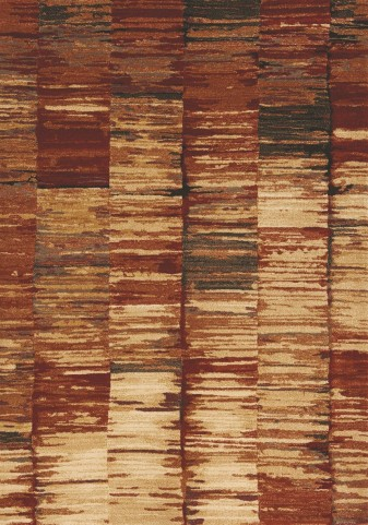 Flint Red/Tan Abstract Stripes Small Rug