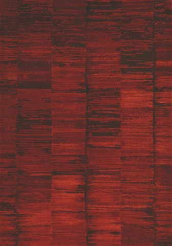 Flint Red/Black Abstract Stripes Large Rug