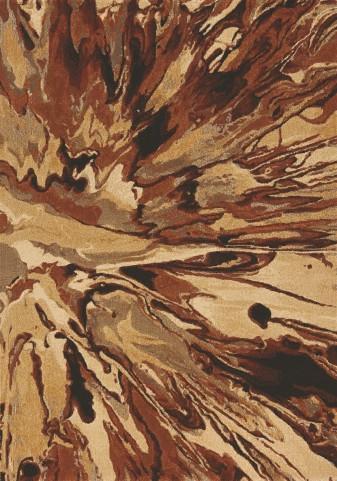 Flint Rust/Tan Organic Splatter  Large Rug