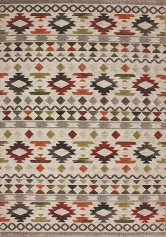 Flint Multi/Cream Tribal Medium Rug