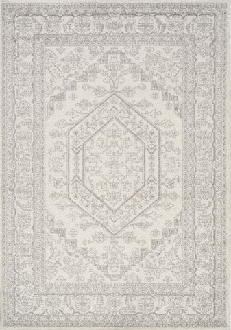 Focus Grey Medallion Medium Rug