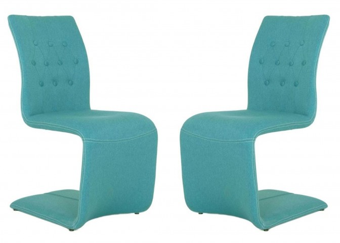 Regis Forma Turquoise Dining Chair Set of 2
