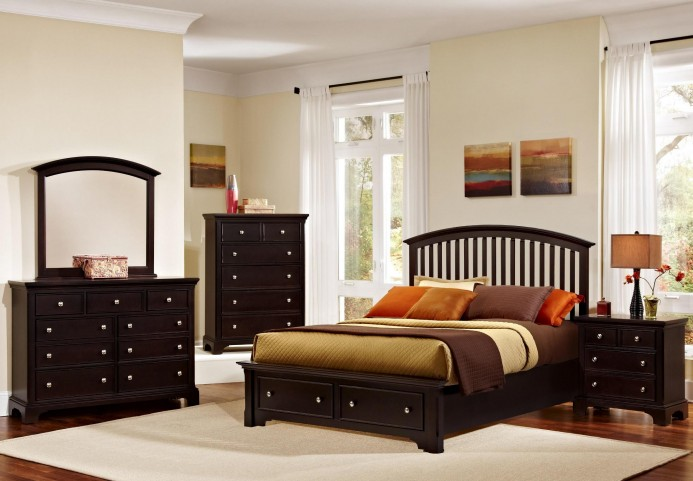 Forsyth Merlot Arched Storage Bedroom Set