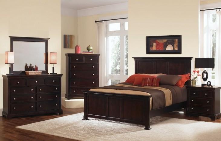Forsyth Merlot Panel Bedroom Set