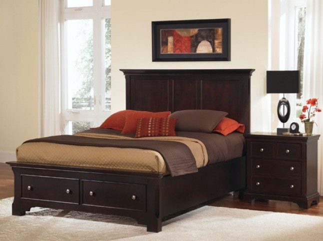 Forsyth Merlot Panel Storage Bedroom Set