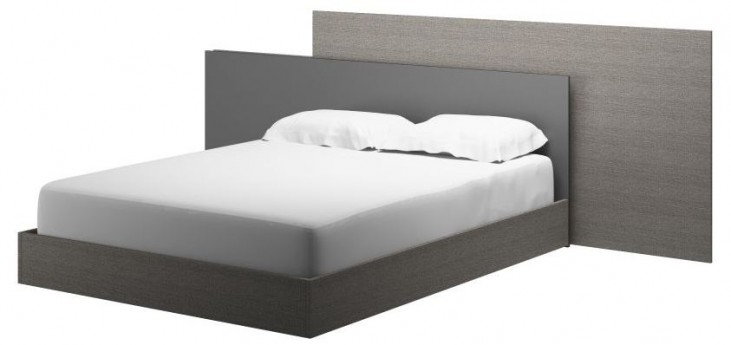 Vivente Forte Matte Gray Queen Platform Bed