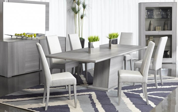 Vivente Matte Grey Forte Extendable Dining Room Set