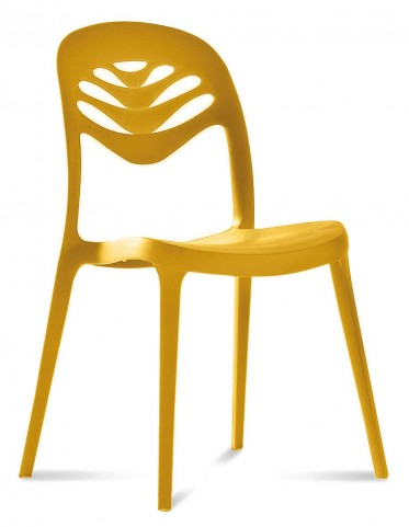 ForYou2 Mustard Ecological productive Stacking chair Set of 4