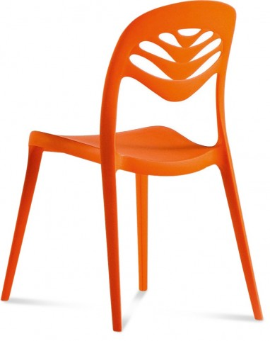 ForYou2 Orange Stacking Chair Set of 4