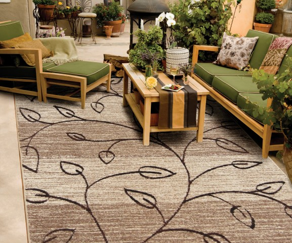 "Four Seasons Kingwood Driftwood Medium 90"" Rug"