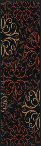 "Four Seasons Josselin Black Runner 96"" Rug"