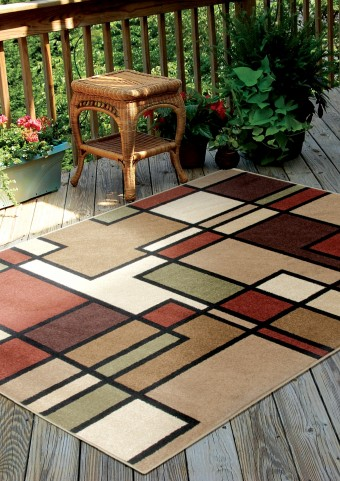 "Four Seasons Thorburn Rawhide Medium 90"" Rug"