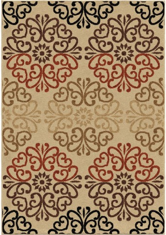 Orian Rugs Indoor/Outdoor Scroll Clarkston Multi Area Small Rug