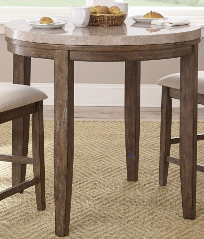 Franco Marble Top Counter Height Dining Table