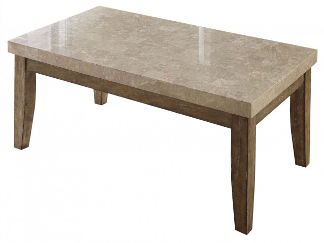 Franco Distressed Driftwood Marble Top Cocktail Table
