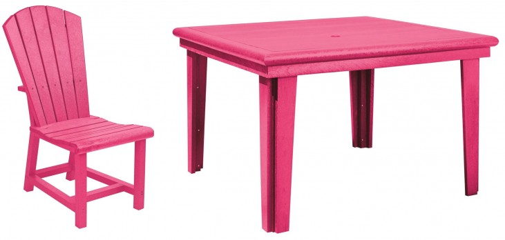 "Generations Fuschia 46"" Square Dining Room Set"