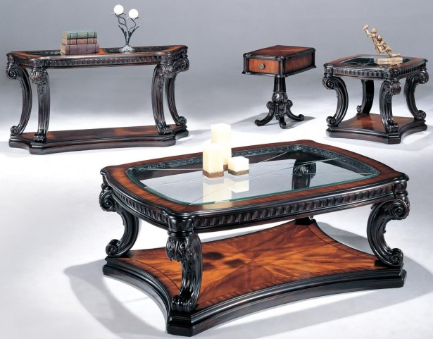 Grand Estates Cinnamon Occasional Table Set