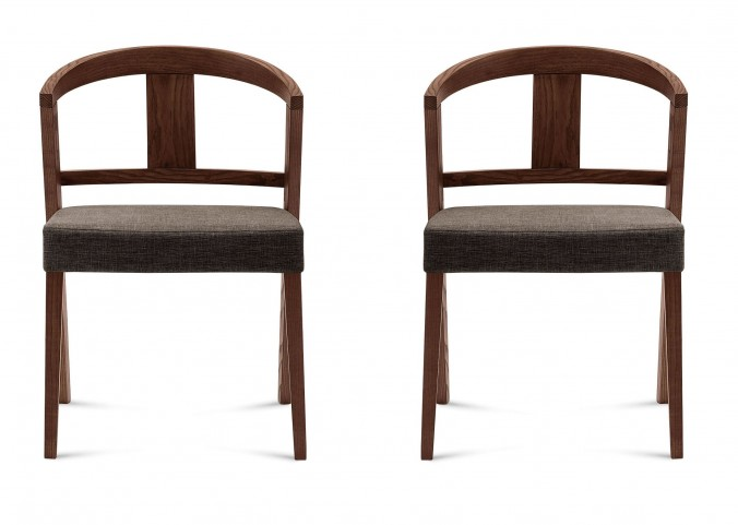 Gea Flirt Brown Ashwood Chair Set of 2