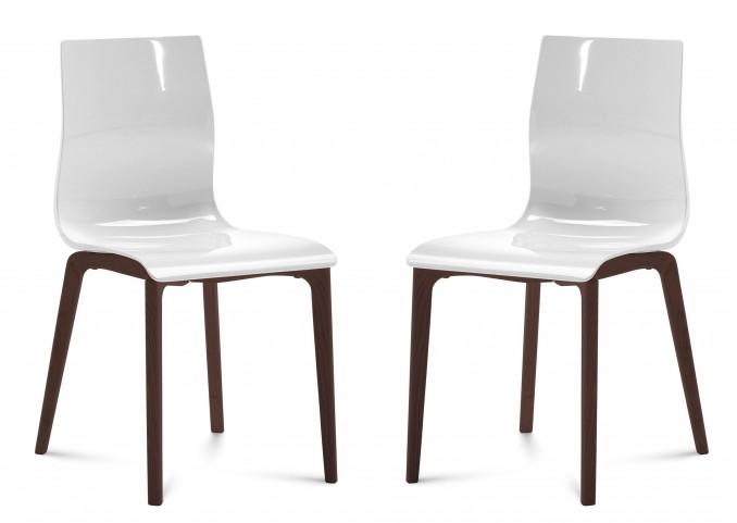 Gel White Chocolate Frame Ashwood Chair Set of 2