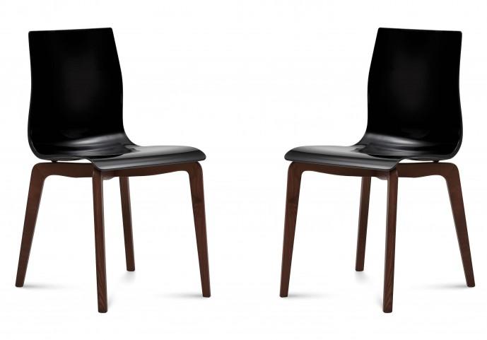 Gel Black Chocolate Frame Ashwood Chair Set of 2