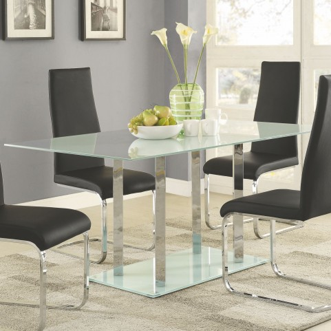 Geneva Glass Pedestal Dining Table