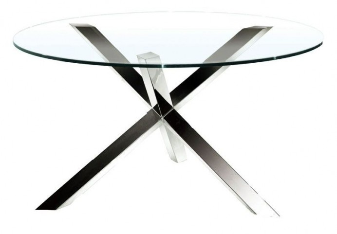 Ginger Clear Glass Round Dining Table