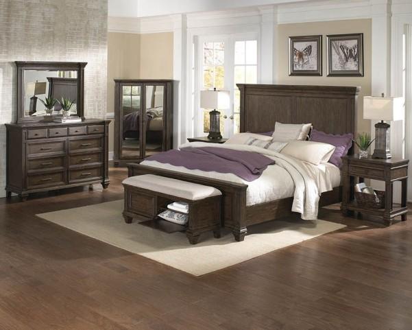Gallatin Timeworn Mahogany Mansion Bedroom Set