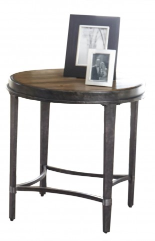 Gianna Antiqued Tobacco Round End Table