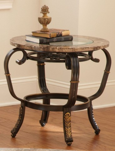 Gallinari Brown Marble End Table
