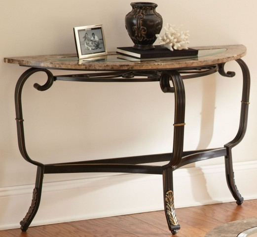 Gallinari Brown Marble Sofa Table