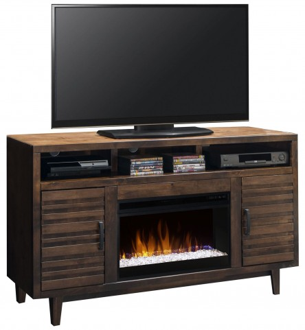 "Glendale Whiskey 62"" Fireplace Console"