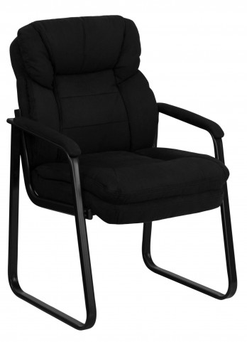 1000909 Black Executive Side Chair with Sled Base