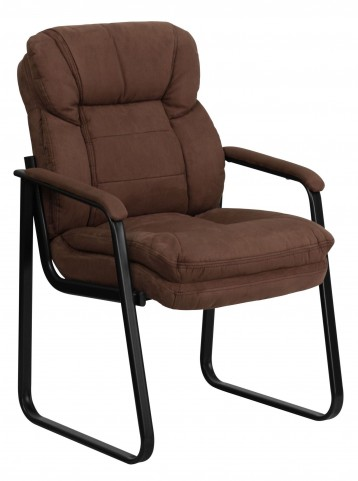 Brown Executive Sled Base Side Chair