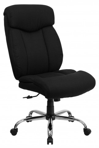 HERCULES Big & Tall Black Fabric Office Chair
