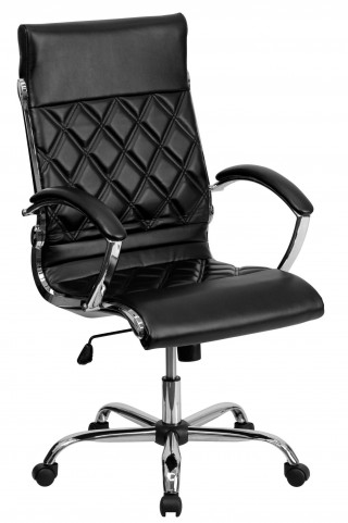 Tall Designer Black Executive Office Chair