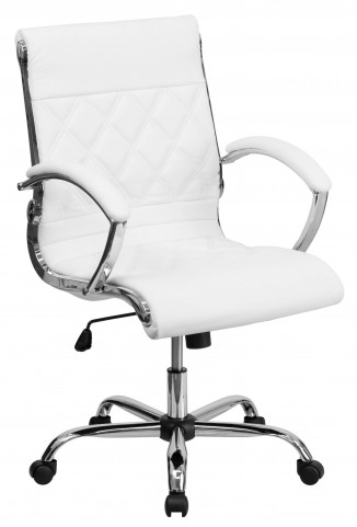 Designer White Executive Office Chair