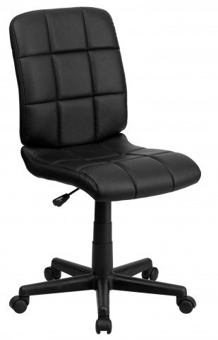 Black Quilted Task Chair