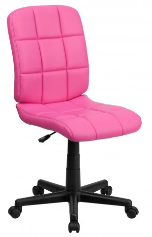 Pink Quilted Task Chair