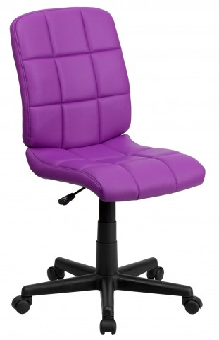 Purple Quilted Task Chair
