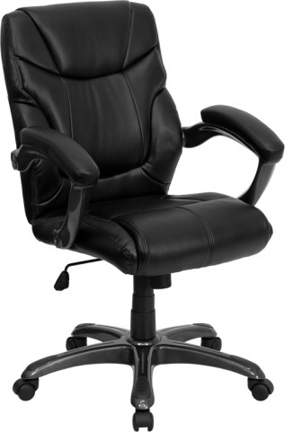 Black Overstuffed Office Chair