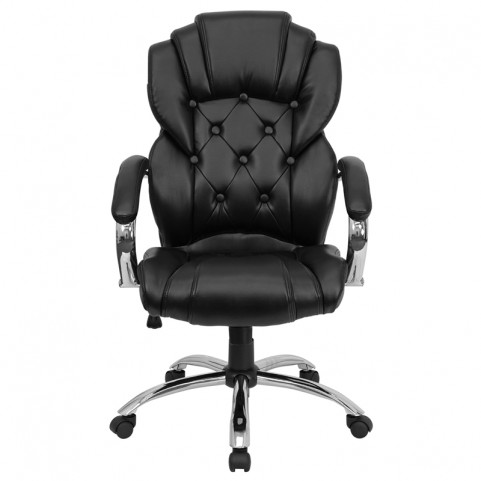 Tall Transitional Style Black Executive Office Chair