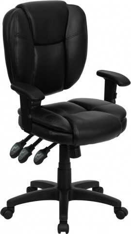 1000967 Black Multi Functional Ergonomic Task Chair with Arms