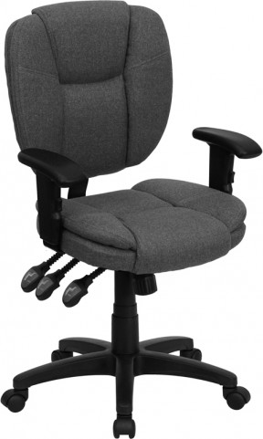Gray Multi Functional Ergonomic Task Chair with Arms