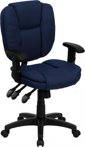 Durable Navy Blue Multi Functional Ergonomic Task Chair