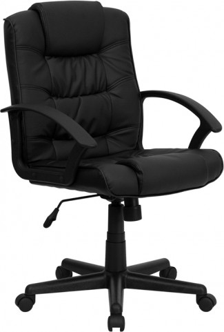 Eco-Friendly Black Plush Executive Office Chair