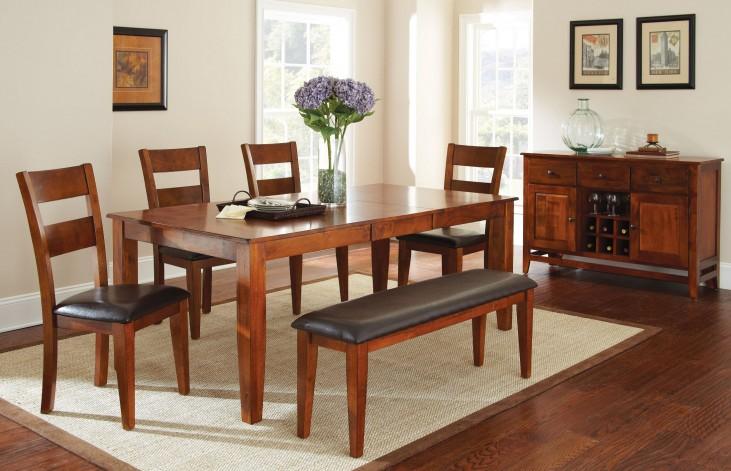 Mango Medium Brown Extendable Rectangular Dining Room Set