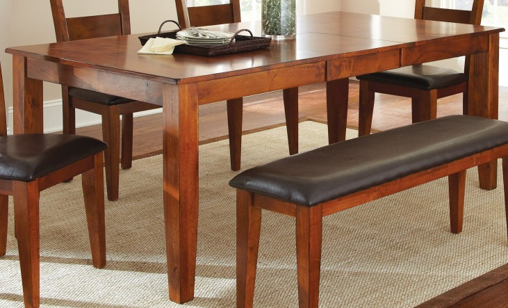 Mango Medium Brown Extendable Rectangular Dining Table