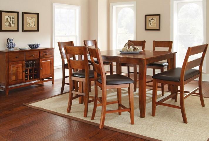 Mango Medium Brown Extendable Rectangular Counter Height Dining Room Set