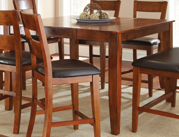 Mango Medium Brown Extendable Rectangular Counter Height Dining Table
